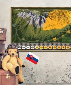 Stírací mapa Vysoké Tatry