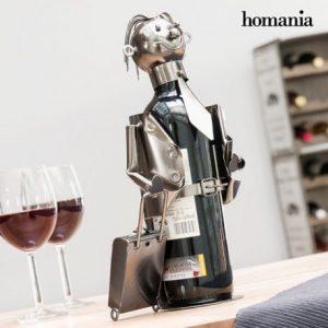 Kovový stojan na víno businessman