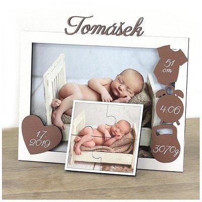 Dárek do porodnice do 500 personalizovaný rámeček na fotky