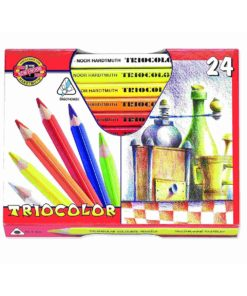 Koh-i-noor trojhranné pastelky TRIOCOLOR 24ks