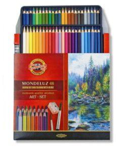 Koh-i-noor akvarelové pastelky 3713 MONDELUZ 48ks