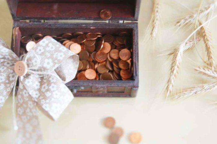 Tipy na darování peněz - v krabičce