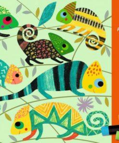 Výtvarná hra s olejovým pastelem - barevná džungle
