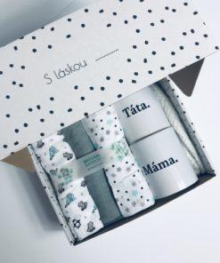 Dárková krabička pro miminko Máma&Táta