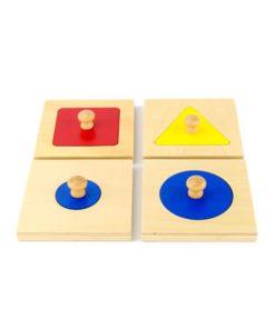 Jednotlivé geometrické puzzle