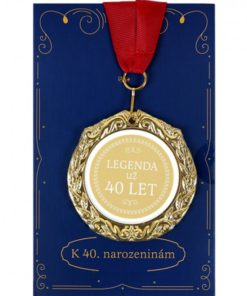 Medaile s přáním - 40 let