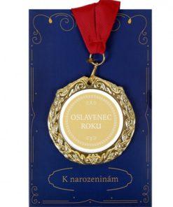 Medaile s přáním k narozeninám - Oslavenec roku