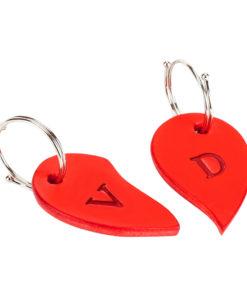 Valentýnské srdce - Přívěšek na klíče