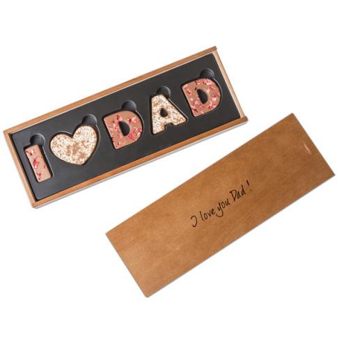 dárek pro tátu - čokoláda s nápisem
