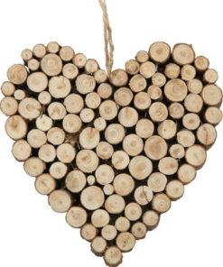 Závěsná dekorace z borovicového dřeva
