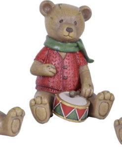 Sada 3 vánočních dekorací ve tvaru medvídka