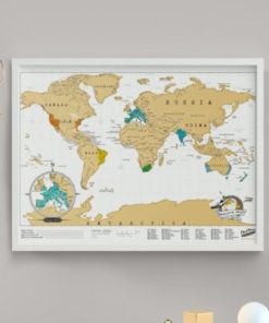 Cestovatelská stírací mapa světa