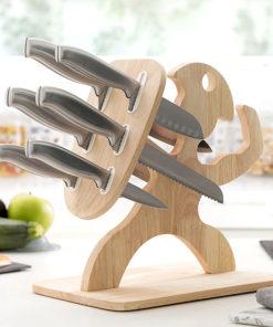 Sada nožů s dřevěným stojanem