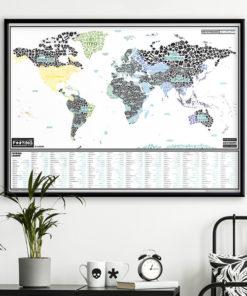 Stírací mapa zkurv#ného světa
