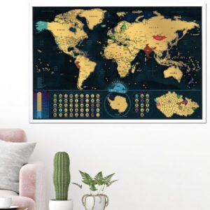 Stírací mapa světa Deluxe (česká verze)