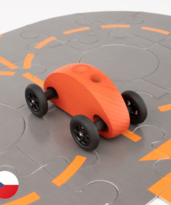 Trihorse Autíčko Finger Car červené s puzzle skládačkou
