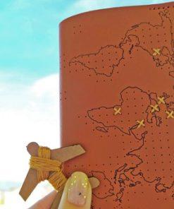 cestovní pouzdro s mapou