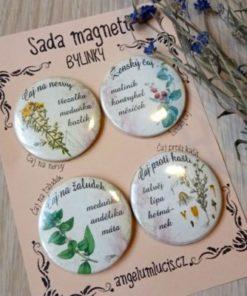 Dárková sada magnetů - Bylinkový receptář