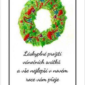 Vánoční přání - vánoční věnec