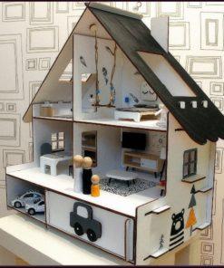 Domeček pro panenky skládací NORDIC - s nábytkem