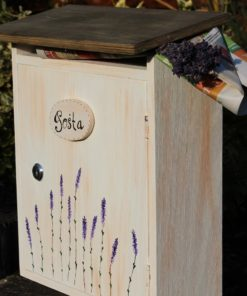 Dřevěná poštovní schránka DOPISY Z PROVENCE