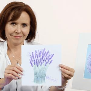 Online kurz malování - Levandulové relaxační malování