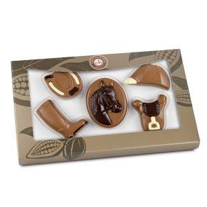 čokoláda ve tvaru koní