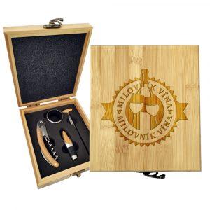 Dárková sada na víno SABLIO - Milovník vína 147×168×49 mm