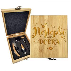 Dárková sada na víno SABLIO - Nejlepší dcera 147×168×49 mm