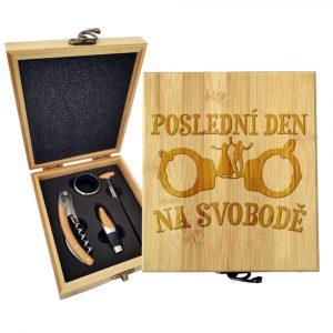 Dárková sada na víno SABLIO - Poslední den na svobodě 147×168×49 mm
