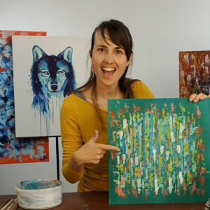 Dárek pro kreativce - kurz abstraktního malování