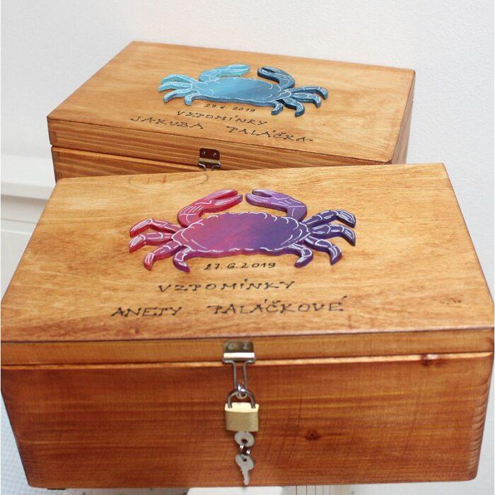 krabice na vzpomínky k promoci