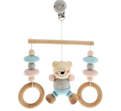 dřevěná hračka k zavěšení pro miminko