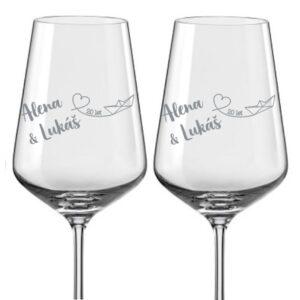 skleničky dárek k výročí rodičů