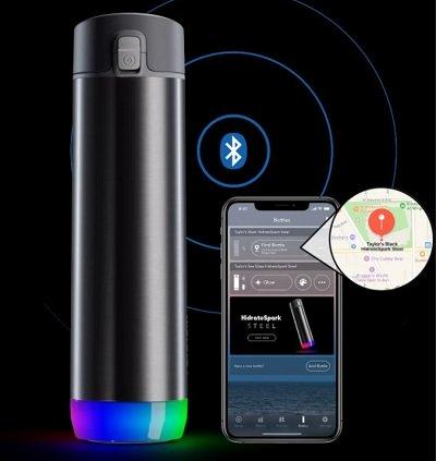 chytrá láhev s připojením na mobilní aplikaci